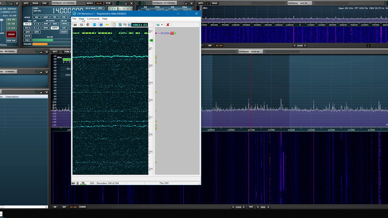 SDRplay have released SDRuno Version 1 3 with Frequency Scanning