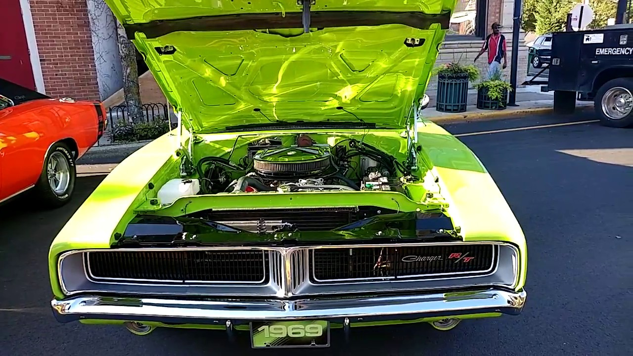 1969 sublime green dodge charger rt 440 engine 6lime9