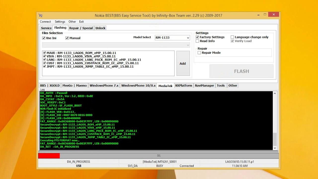 rm-1133 flash tool