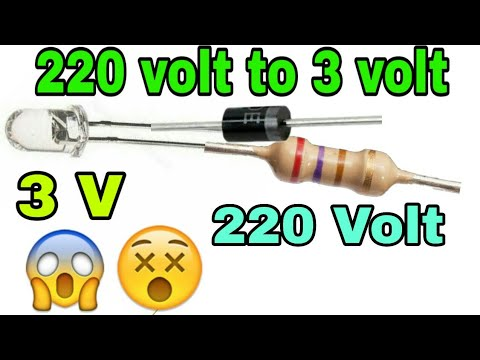 3 Volt DC Led Connect To 220 AC Volt Current || How To Connect DC LED 220 Volt AC In Hindi