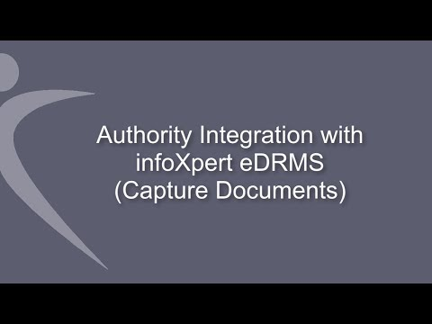 infoXpert eDRMS - Integration with Civica Authority