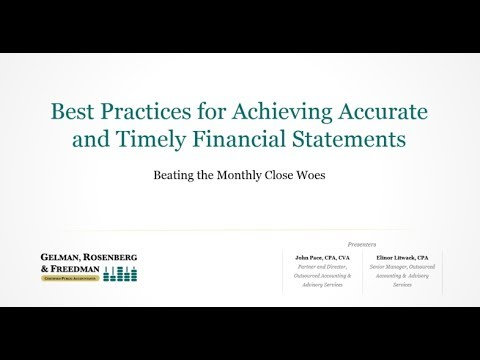 Beating the Monthly Close Woes Webinar