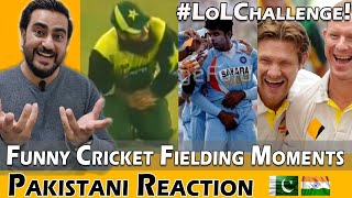 Funny Cricket Fielding Moments - Try not to Laugh Challenge | Reaction