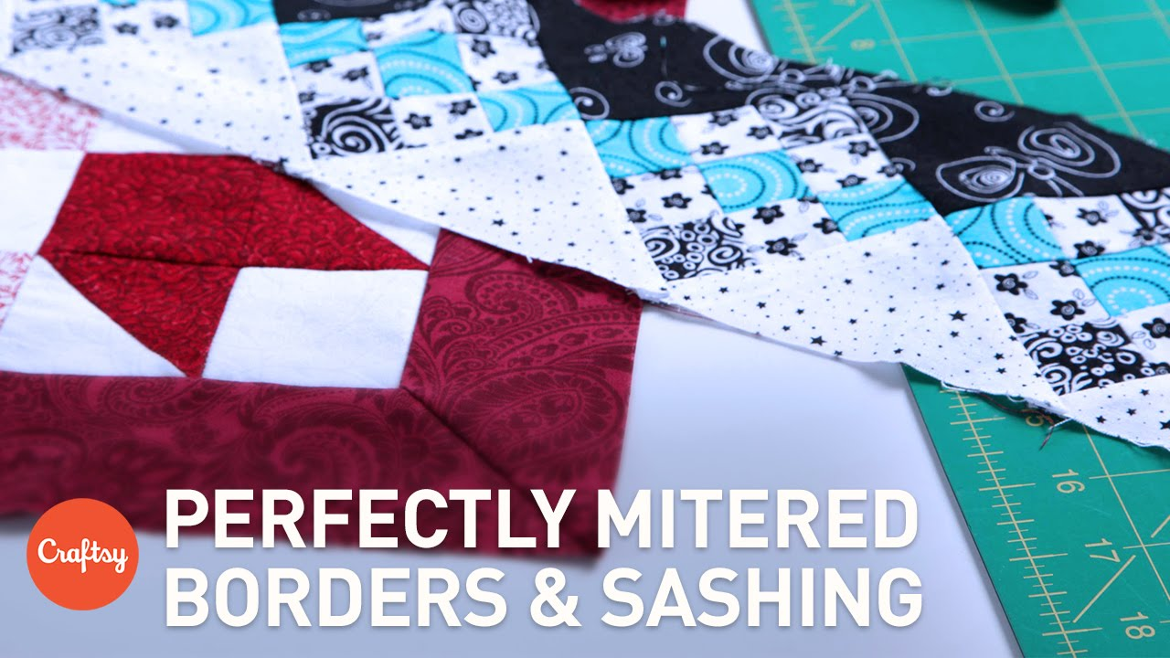 Mitered Corners for Borders & Sashing | Easy Quilting Technique ... : mitered corners on quilts - Adamdwight.com