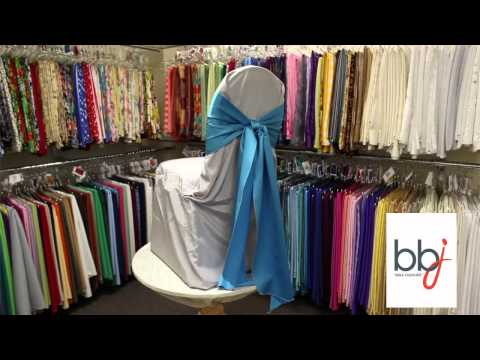 BBJ Linen:  Tie a Simple Knot Using Chair Covers and Linens