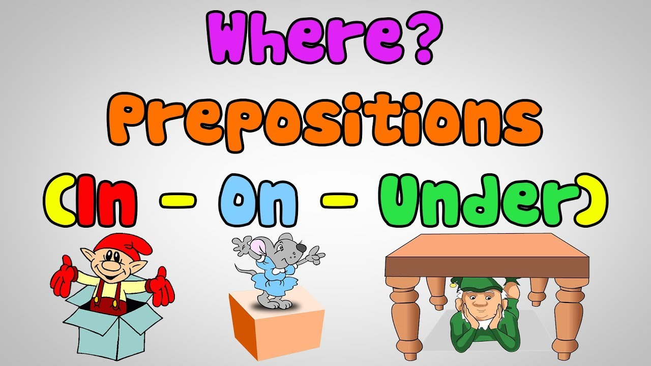 English Song for Kids - Where? - Prepositions (In, On ...