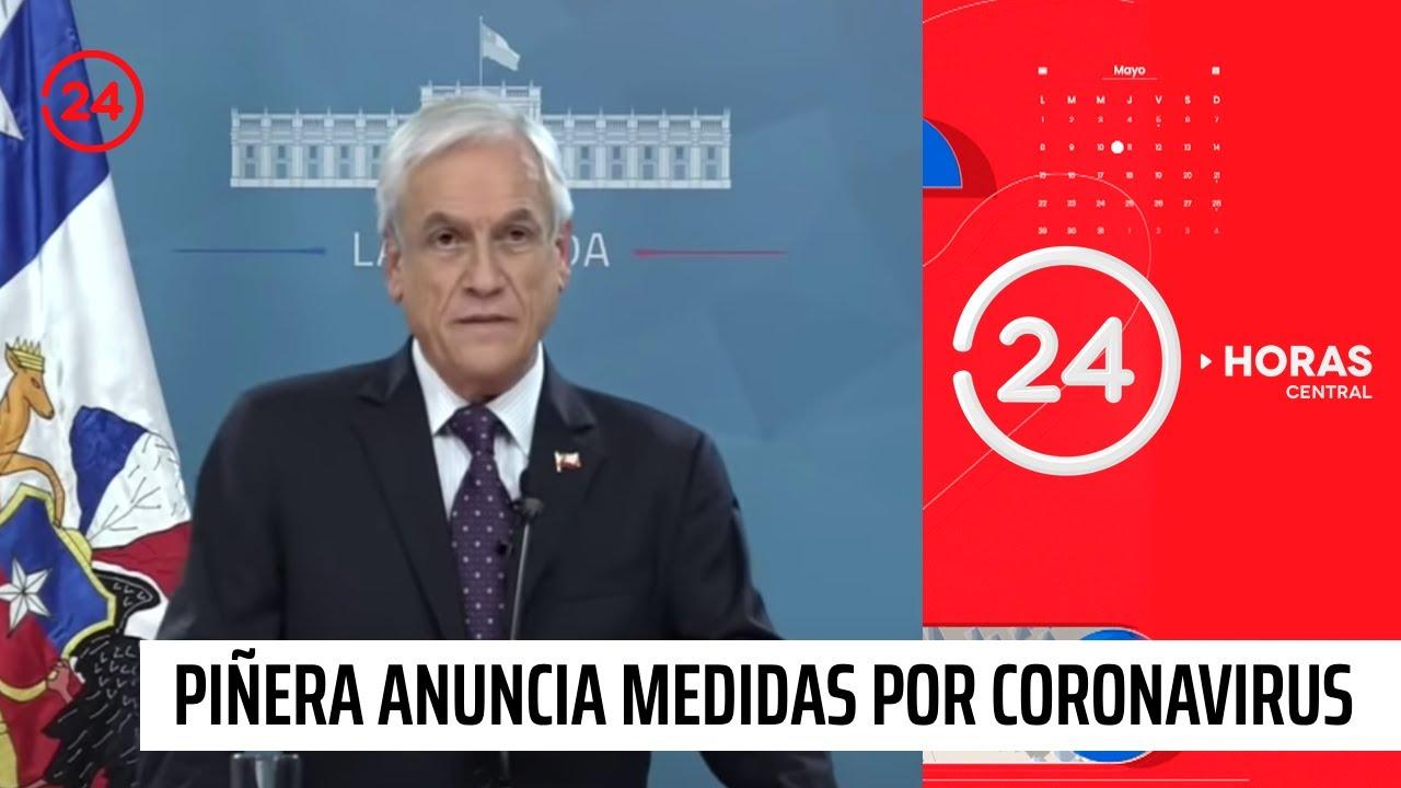 Presidente Piñera anuncia paquete de medidas por coronavirus   24 ...