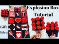DIY Explosion Box Tutorial   Anniversary/Birthday Gift Idea   How To Make Explosion Box