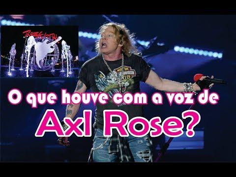 O que houve com a voz de Axl Rose?