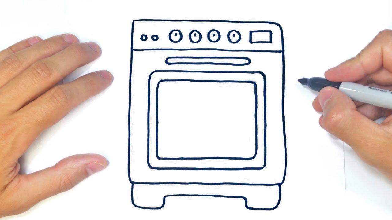 Como Dibujar Un Horno Paso A Paso Dibujos De Electrodomesticos