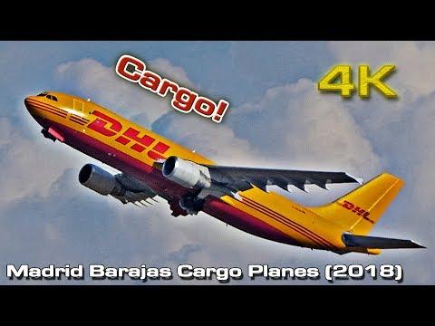 Madrid Barajas [4K] Cargo Spotting (2018)