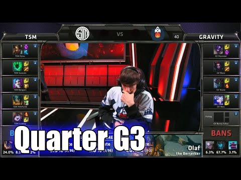 TSM vs Gravity | Game 3 Quarter Finals S5 NA LCS Summer 2015 Playoffs | Team Solomid TSM vs GV G3 QF