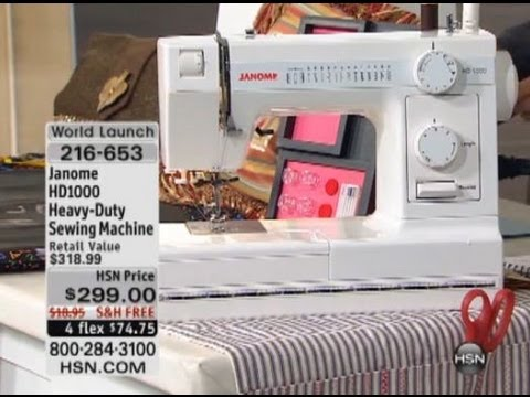 Janome HD40 HeavyDuty Sewing Machine YouTube Awesome Janome Hd1000 Black Edition Heavy Duty Commercial Grade Sewing Machine