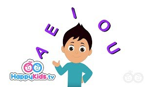 Vowel Song - Learning Songs Collection For Kids And Children | Happy Kids