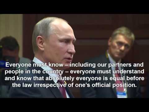 PUTIN REACT TO THE ARREST OF RUSSIAN ECONOMY MINISTER ULYUKAYEV