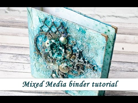 Binder from scratch with mixed media cover. Mixed Media Place store DT. Tutorial by Ola Khomenok