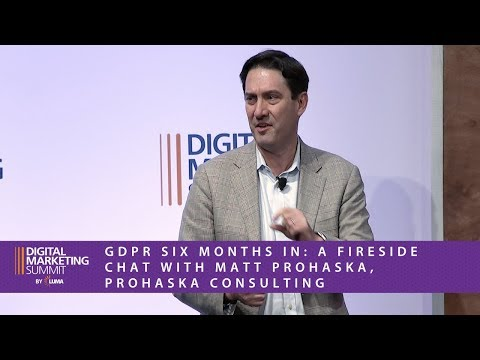DMS West 18 — GDPR  Six Months In: A Fireside Chat with Matt Prohaska, Prohaska Consulting