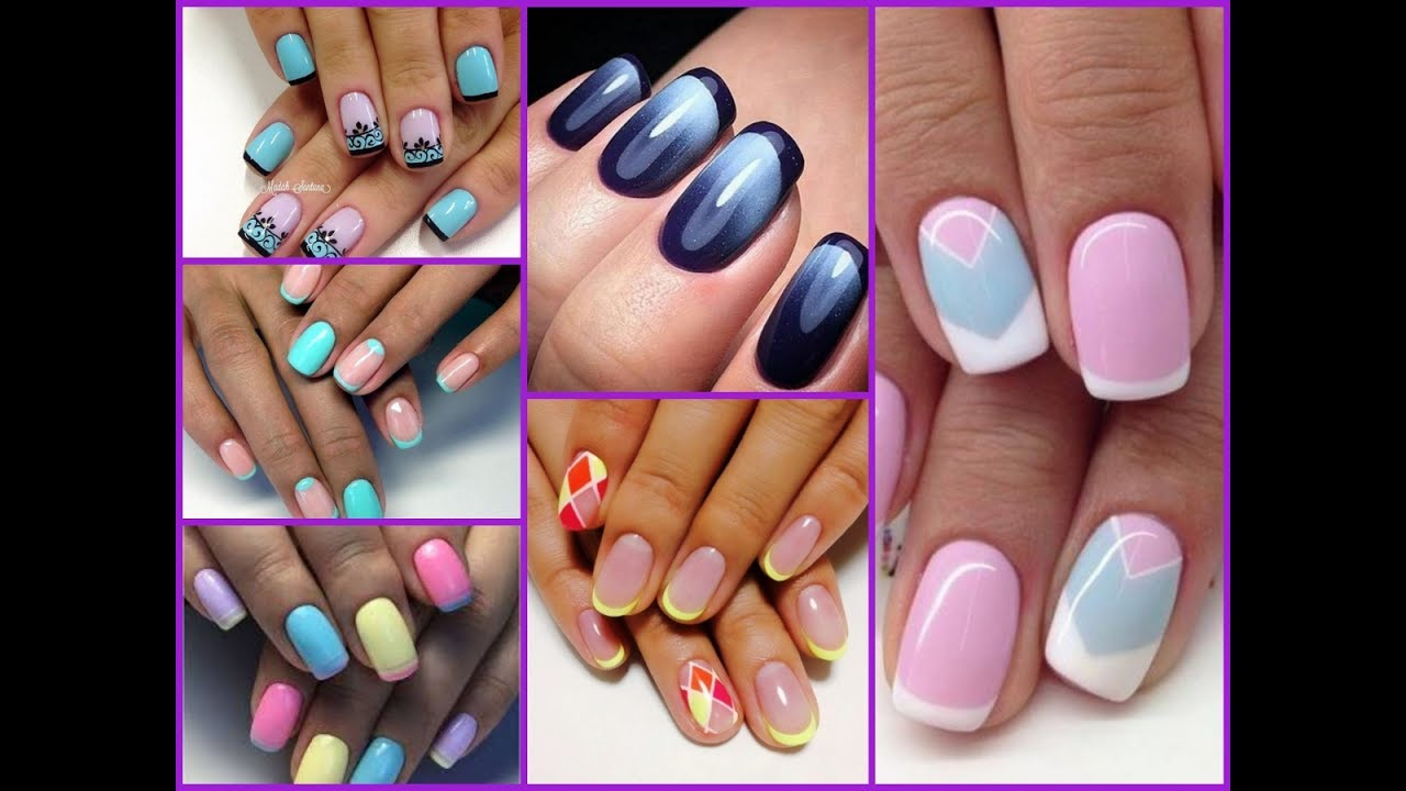 Colorful French Nail Art Compilation 2017
