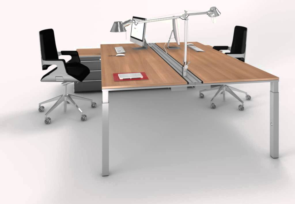 WINEA PRO Doppelarbeitsplatz von WINI Büromöbel - YouTube