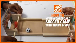 DIY Cardboard Soccer Game with @Thrift Diving  | The Home Depot Kids Workshops