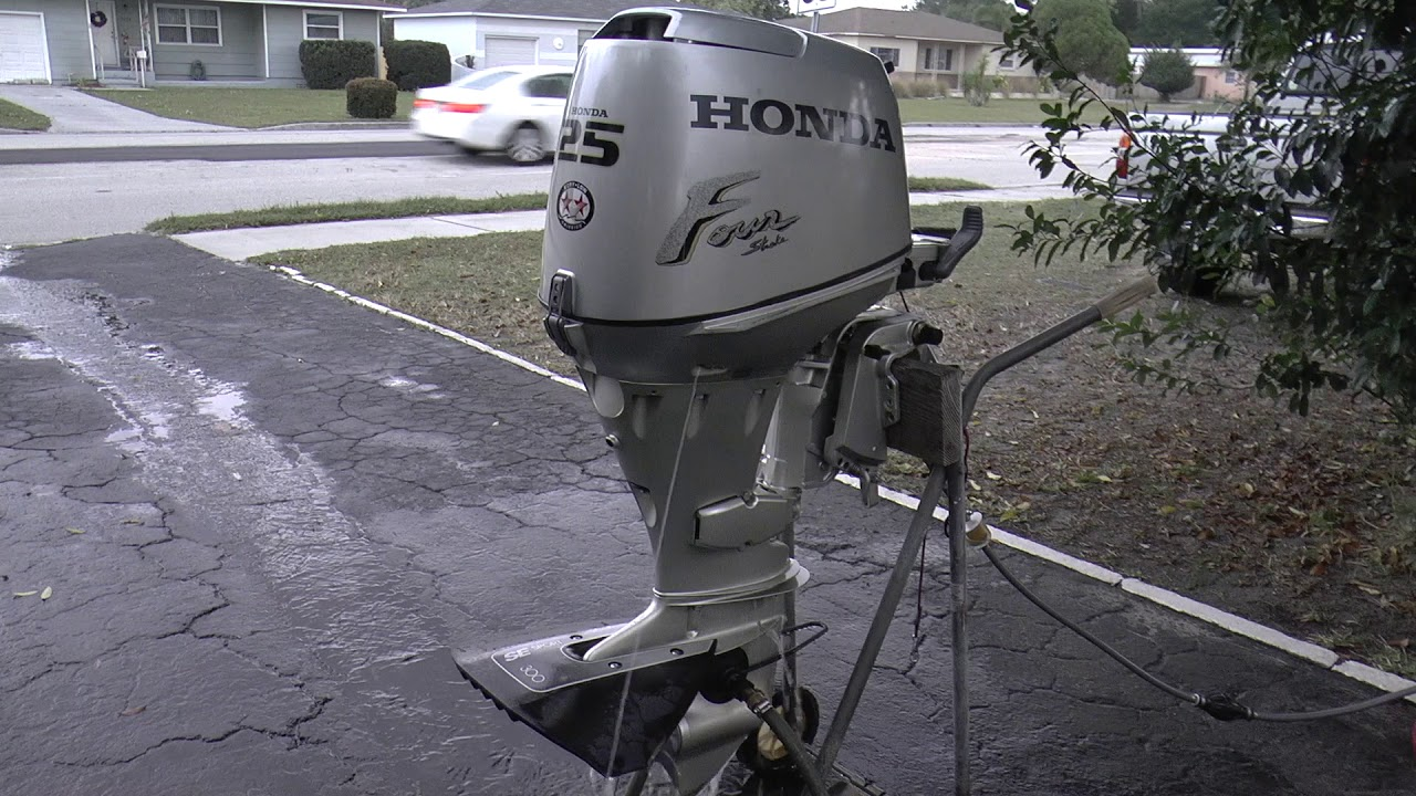 2001 Short Shaft Honda 25hp 4 Stroke Outboard Motor Youtube