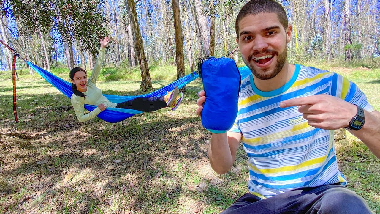 Con esto puedes DORMIR EN CUALQUIER LUGAR cómodo | Probando Hamaca de Camping