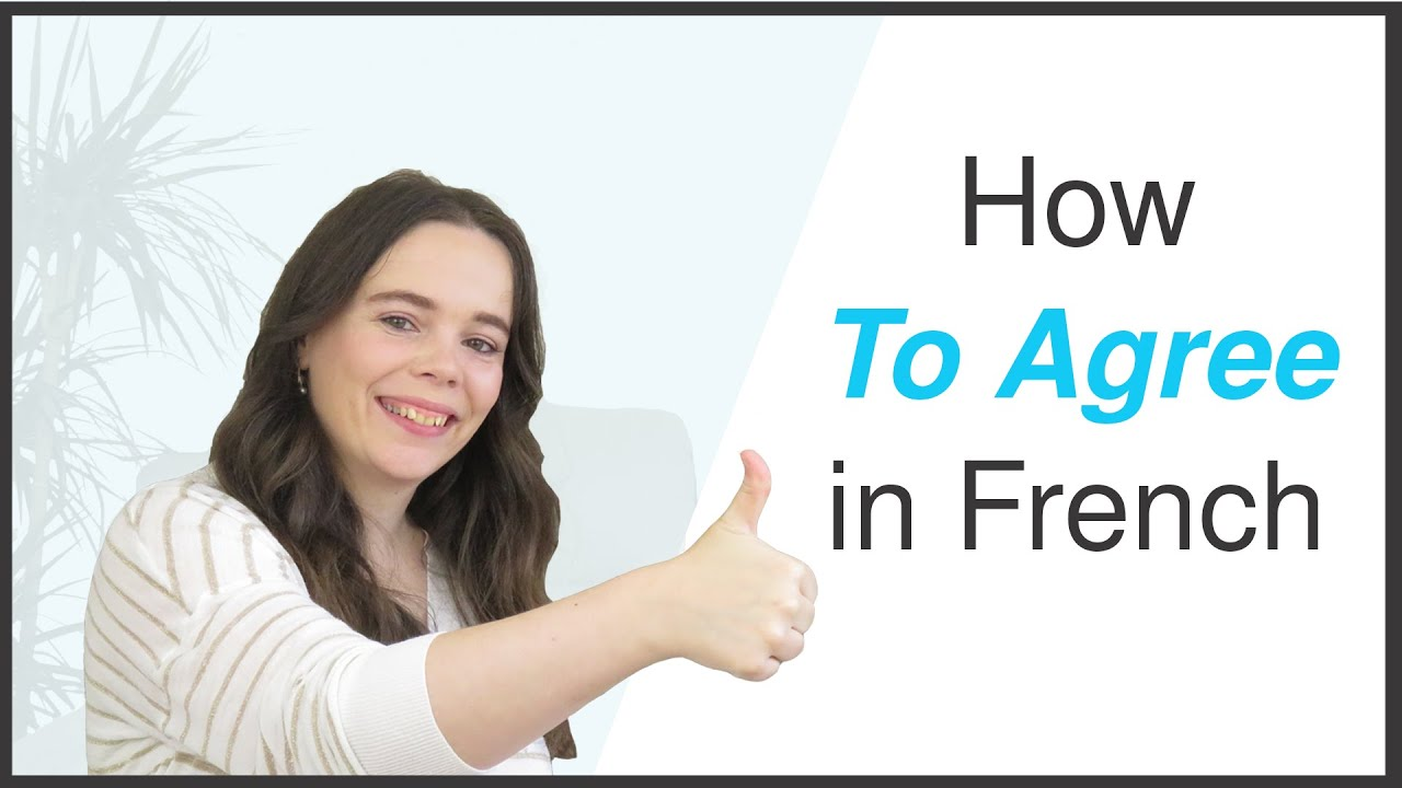 Top 10 Ways To AGREE In French