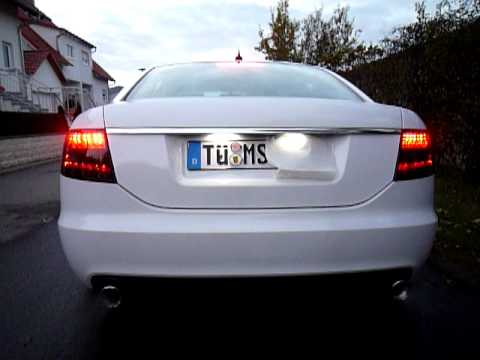 smoked taillights audi a6 4f limo youtube. Black Bedroom Furniture Sets. Home Design Ideas