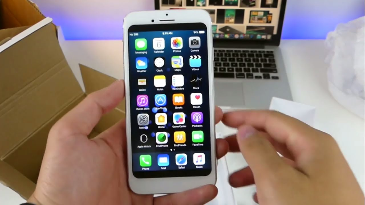 iPhone 8 Unboxing White Edition Clone | Price Camera Review ीफोने  उन्बॉक्सिंग क्लोन