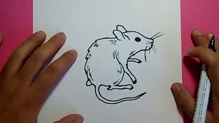Como dibujar un raton paso a paso 8 | How to draw a mouse 8