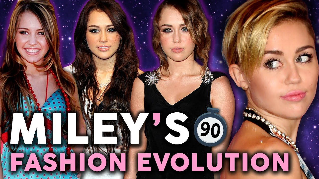 8 Years Of Miley Cyrus Style In 90 Seconds Youtube