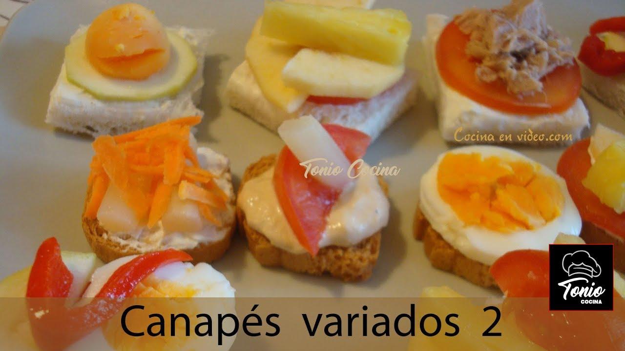 Canap s variados 2 receta de aperitivos f cil y r pida for Platillos rapidos y economicos