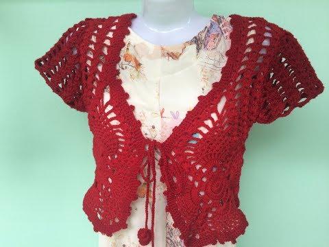 [Crochet Bolero Jacket Tutorial: TYPE 2] HƯỚNG DẪN MÓC ÁO KHOÁC LỬNG: MẪU SỐ 2