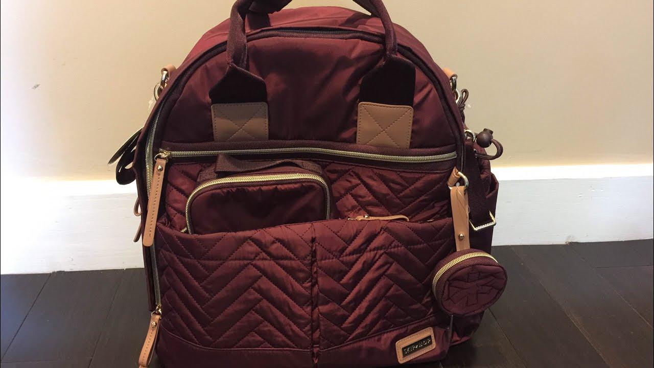 Diaper Bag Review Skip Hop Suite Backpack In Merlot