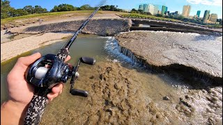 Fishing URBAN WATERFALLS ON A NEW RIVER (SURPRISE CATCH!!)