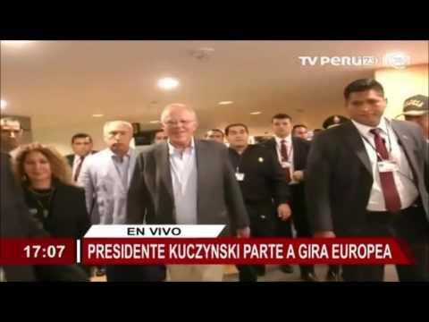 Presidente Kuczynski inició viaje con destino a Francia y España