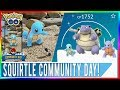 SHINY SQUIRTLE COMMUNITY DAY IN POKEMON GO! Plus Squirtle Squad with Sunglasses from Research!