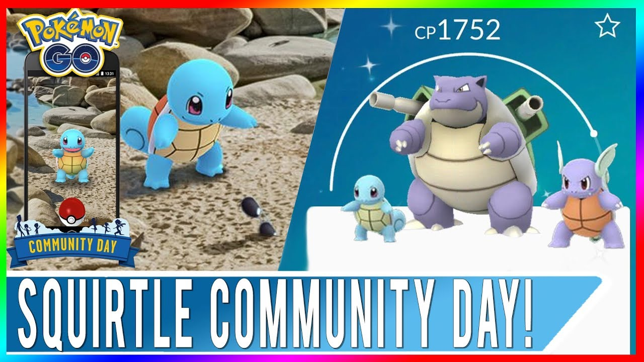Shiny Squirtle Community Day In Pokemon Go Plus Squirtle Squad With Sunglasses From Research Youtube It evolves into wartortle starting at level 16, which evolves into blastoise starting at level 36. shiny squirtle community day in pokemon