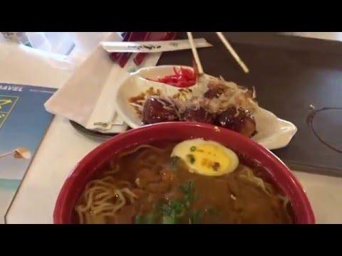 Eating ramen and Japanese food at Tensuke Express in Columbus Ohio 04/03/2016