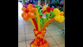 Букет из шаров шдм на подставке своими руками, видеоинструкция