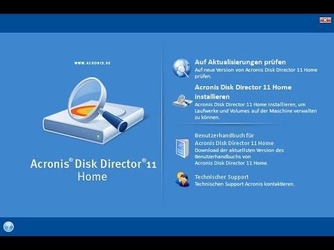 Работа с жестким диском Acronis Disk Director