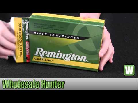Remington 300 RUM Power Level 1 150gr AccuTip Core-Lokt PSP Per 20 R300UM1P1 Unboxing
