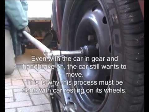 How To Remove A Driveshaft Hub Nut Without Air Tools Youtube