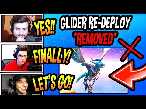 STREAMERS REACT TO GLIDER RE-DEPLOY *REMOVED* FROM FORTNITE! (CRAZY!) Fortnite SAVAGE Moments