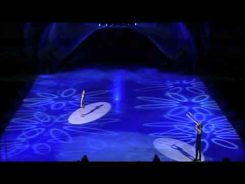 Holiday on ice Festival flying act.