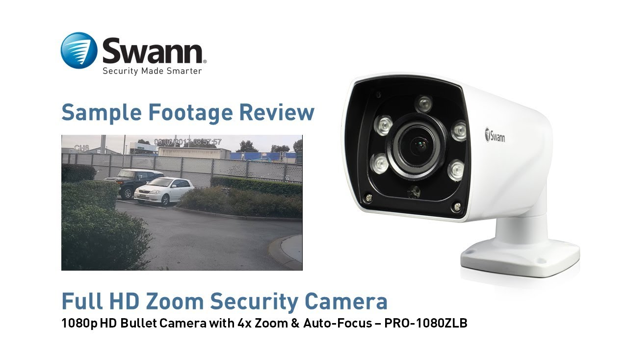 76a6305935a Swann PRO-1080ZLB Security Camera Sample CCTV Footage Review - YouTube