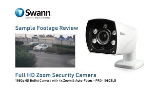 Swann PRO-1080ZLB Security Camera Sample CCTV Footage Review