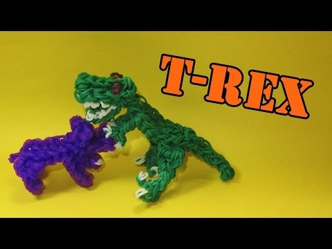 Rainbow Loom Charms: T-Rex (Tyrannosaurus Rex / Dinosaur): How To Design (DIY Mommy)
