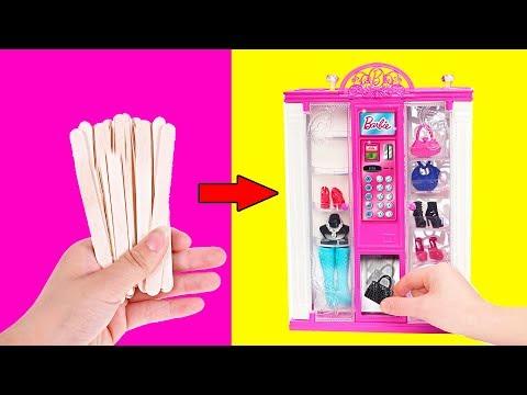 Видео как сделать мебель для кукол