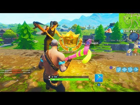 """""""Follow the treasure map found in Risky Reels"""" Location Fortnite Week 1 Challenges!"""